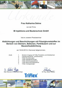 TRIFLEX Urkunde 2012 K