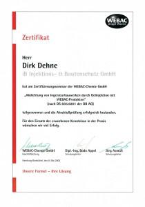 WEBAC Urkunde 2003